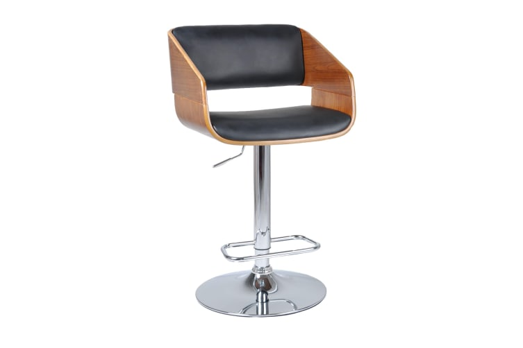 Wooden Leather Bar Stool Chair | Maria