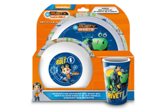 Rusty Rivets 3 Piece Dinner Set (Multicoloured) (One Size)