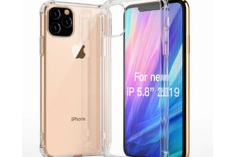 Select Mall Drop Protection Cover Acrylic Transparent Mobile Phone Case Compatible with Series IPhone 11 Case-White Iphone11 Pro Max 6.5 inch
