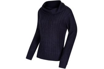 Regatta Great Outdoors Womens/Ladies Karlee Cowl Neck Cable Knit Sweater (Navy) (16)