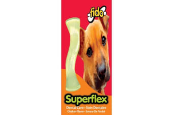Superflex Nylon Dog Bone - Chicken Flavoured - Mid - 13cm - Fido