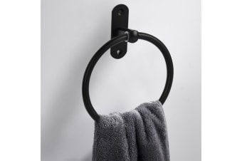 Hand Towel Ring Round Bar Rack Rail Wall Mounted Stylish Design Holder Bathroom