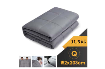 WEIGHTED BLANKET QUEEN Heavy Gravity GREY 11.5KG