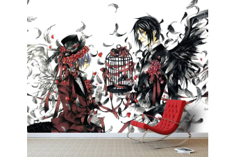 3D Charles Wings Bird Cage 24 Anime Wall Murals Woven paper (need glue), XL 208cm x 146cm (WxH)(82''x58'')