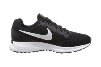 Nike Women's Air Zoom Pegasus 34 Running Shoe (Black/White, Size 5)