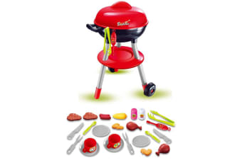 Kids Toy Outdoor Weber BBQ Play Set with 24 Accessories