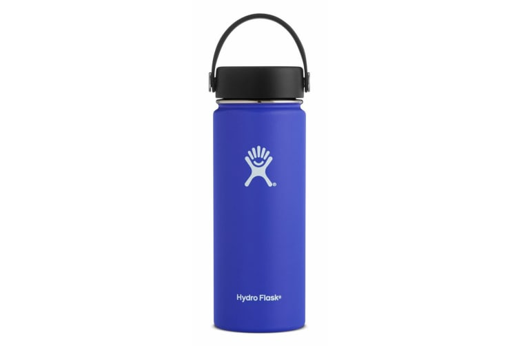 Hydro Flask 18oz / 523ml Wide mouth Steel Water Bottle - Blueberry