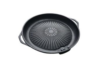 Portable Korea BBQ Butane Gas Stove Stone Grill Pot Non Stick Coated Round Plate