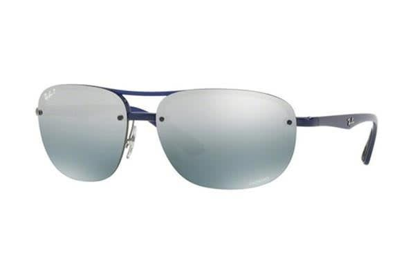 Ray-Ban RB4275CH 63mm - Blue (Blue Mirror Grey Gradient Polarised lens) Unisex Sunglasses