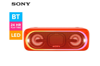 Sony Ultimate Extra Bass Wireless Bluetooth Speaker w/LED Up to 24h Battery Red