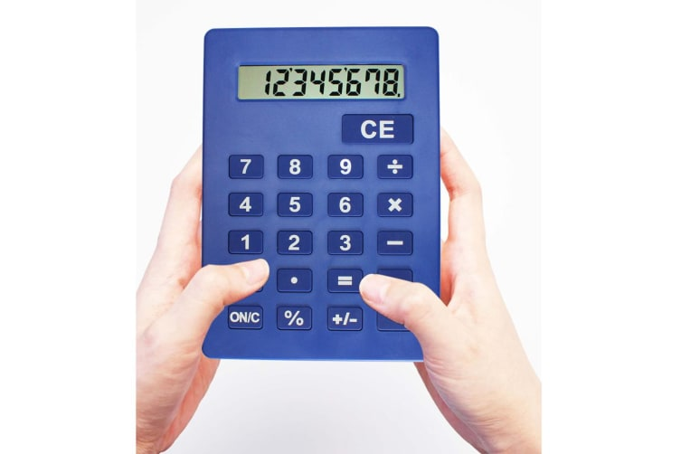 Jumbo Calculator Large Size Display Digit 8 Desktop Big Buttons Fast Delivery AU  -  Orange