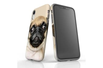 For iPhone XR Shielding Back Case  Front Up Pug