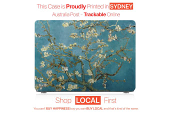 "Hard Case Cover for Apple Macbook Pro 13"" Inch  A1708-Matte Clear-Almond Blossom"