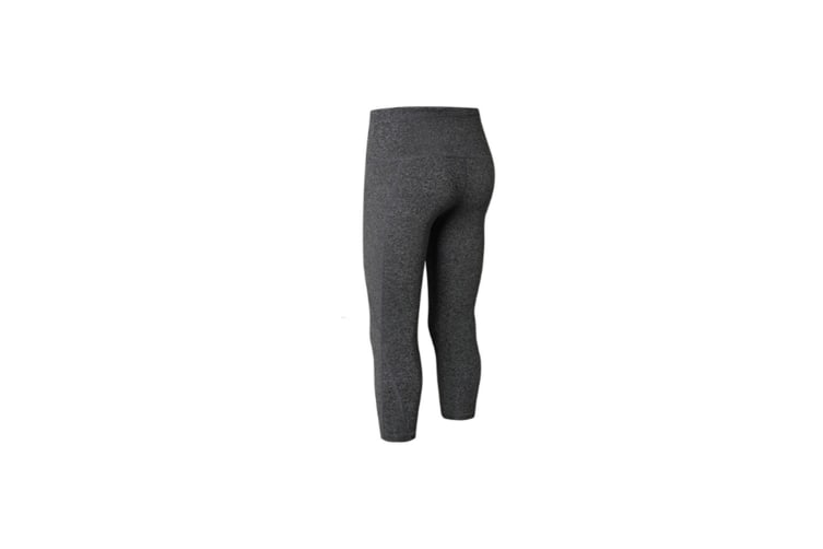 High Waisted Workout Leggings For Women Yoga Pants With Side Pocket Tights - Grey Grey M