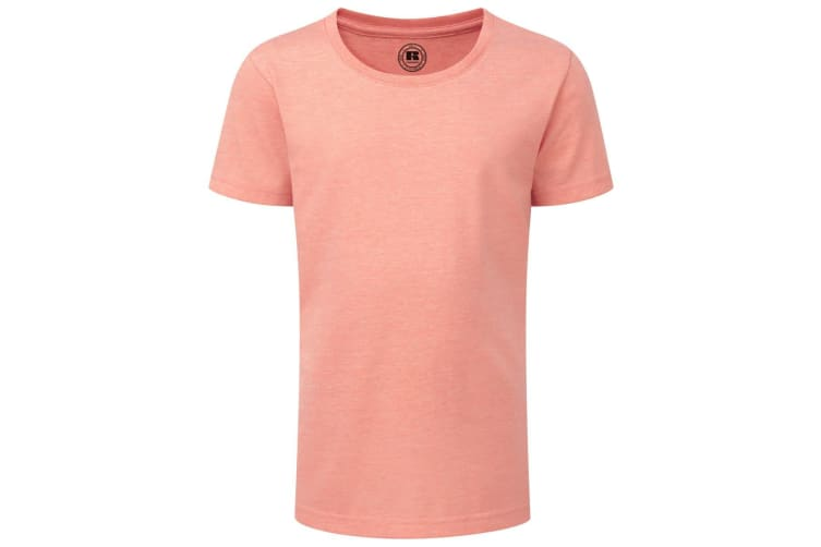 Russell Childrens/Girls Short Sleeve HD T-Shirt (Coral Marl) (5-6 Years)