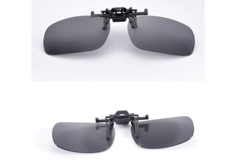 Polarized Clip-On Flip Up Metal Clip Sunglasses