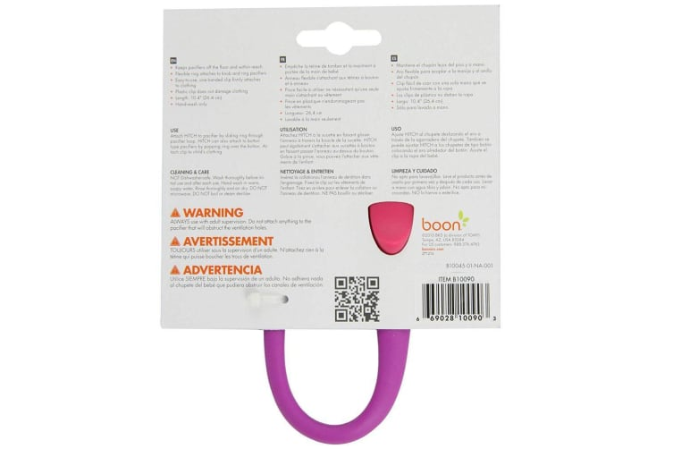 BOON HITCH Pacifier Tether - Pink / Purple