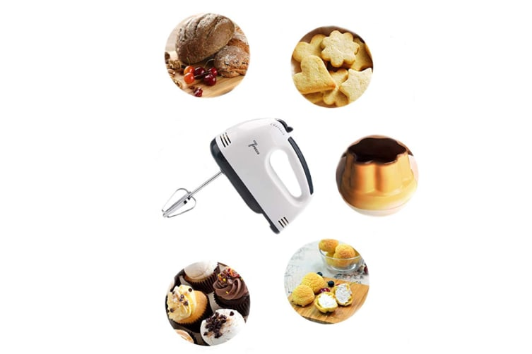 7-Speed Hand Mixer Electric Whisk for Blender, Kitchen Aid, Baking Assistant with 4 Stainless Steel Attachments