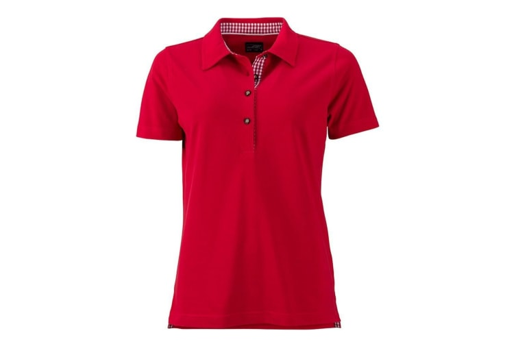 James and Nicholson Womens/Ladies Traditional Polo (Red) (XXL)