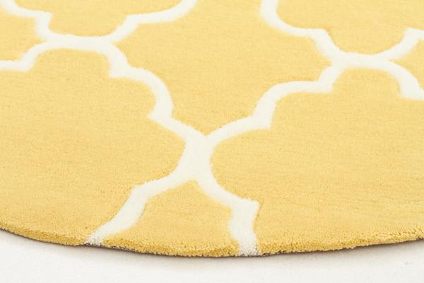 Kids Trellis Design Rug Yellow 150x150cm