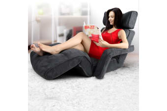Artiss Lounge Sofa Floor Armchair Folding Chaise Chair Adjustable Recliner