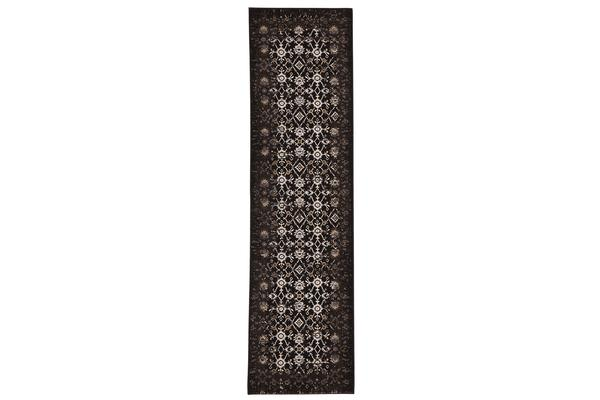 Royal Kashan Designer Rug Chocolate Brown 400X80cm