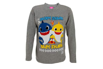 Baby Shark Childrens/Kids Baby Shark And Daddy Shark Top (Grey)