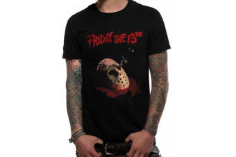 Friday The 13th Unisex Adults Dagger T-Shirt (Black) (S)