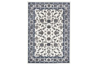 Classic Rug White with White Border
