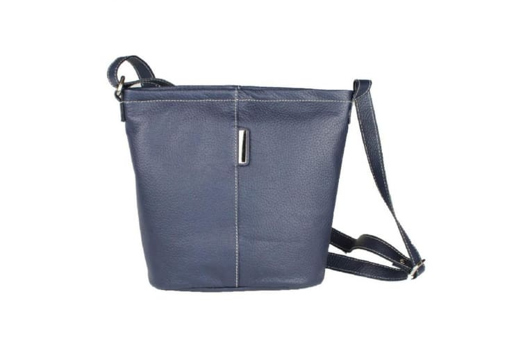 Eastern Counties Leather Womens/Ladies Erica Handbag With Metal Detail (Navy) (One Size)