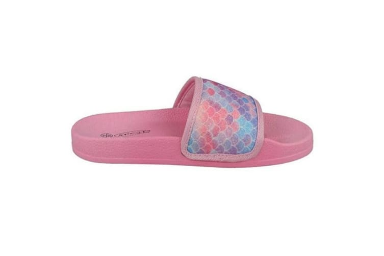 Spot On Girls Sliders (Pink Synthetic) (2 UK)