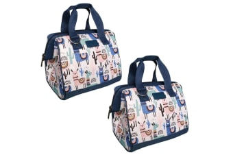 2x Sachi Thermal Insulated Picnic Lunch Cooler Box Bag Carry Food Storage Llamas