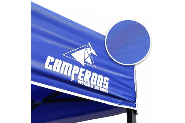 3x4.5m Gazebo Frame + Roof + Side Cover - BLUE