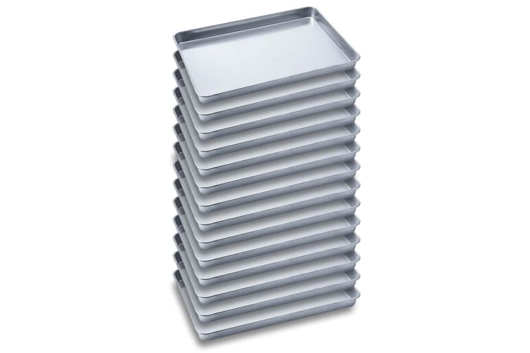SOGA 14X Aluminium Oven Baking Pan Cooking Tray for Baker Gastronorm 60*40*5cm