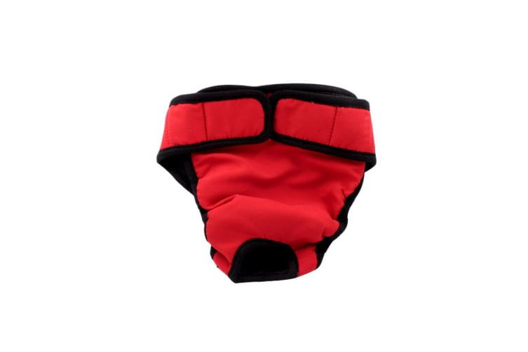 Female Dogs Cotton Blend Breathable Physiological Safety Menstrual Pants Red L