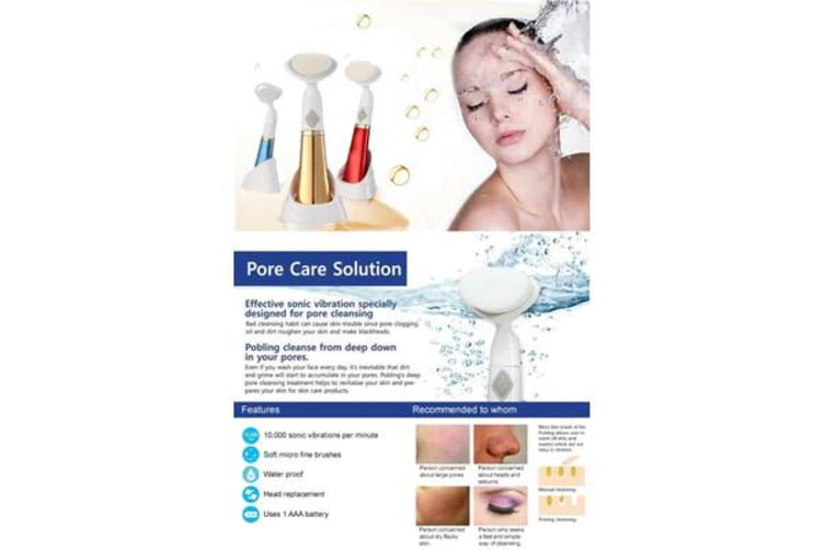 Gen 6 Deep Pore Cleansing Sonic Vibration Massager Makeup Remover Brush White