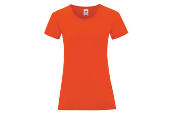 Fruit Of The Loom Womens/Ladies Iconic T-Shirt (Flame Red) (M)