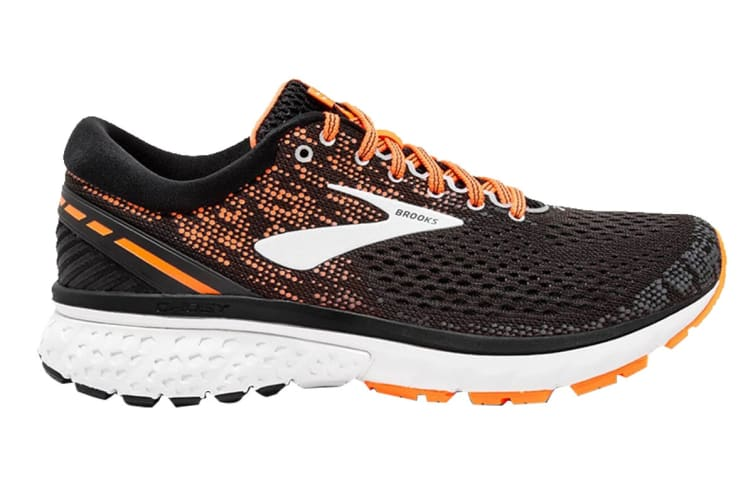 Brooks Men's Ghost 11 (Black/Silver/Orange, Size 8)