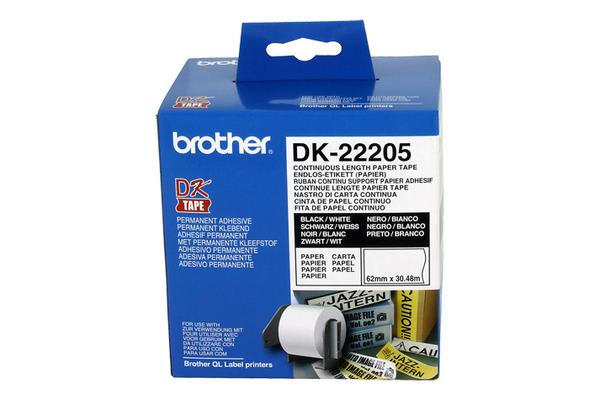 White Continuous Paper Roll 62mmX30.48m