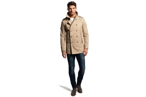 Superdry Men's Rogue Mac Jacket (Stone, X-Large)