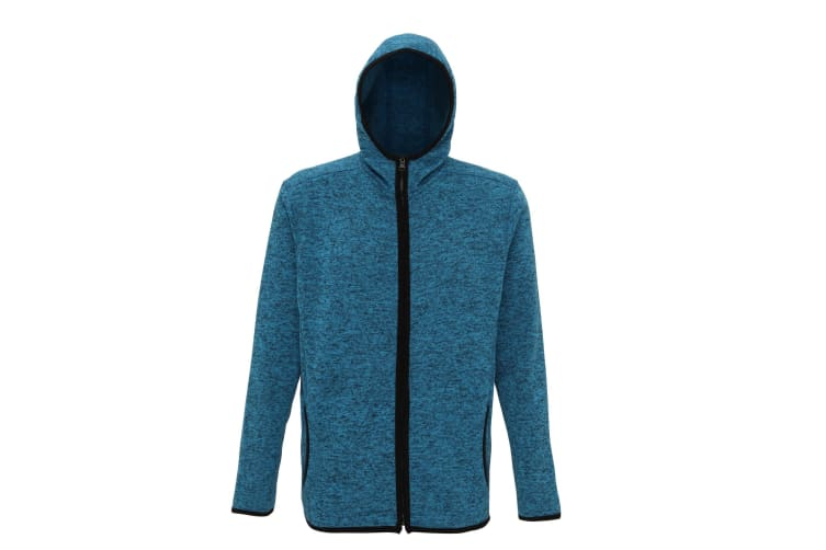 Tri Dri Mens Melange Knit Fleece Jacket (Sapphire/Black Fleck) (M)