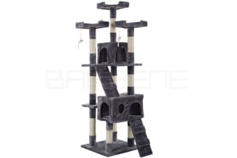 170cm Cat Tree Scratching Post Tower Scratcher Pole Gym Toy House Furniture Grey