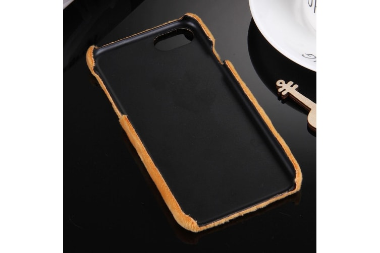 For iPhone 8 7 Case Stylish High-Quality Faux Fur Durable Protective Cover Brown