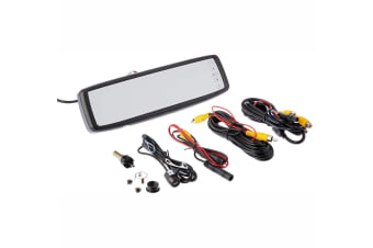 "COMMAND CLIP ON OVER MIRROR WITH 4.3"" MONITOR SCREEN + REVERSING CAMERA SYSTEM"