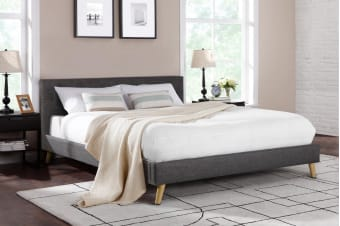 Shangri-La Bed Frame - Como Collection (Dark Grey)