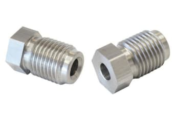 """Aeroflow S/S Inverted Flare Tube Nut 3/16"""" Hard Line To M10X1.25"""