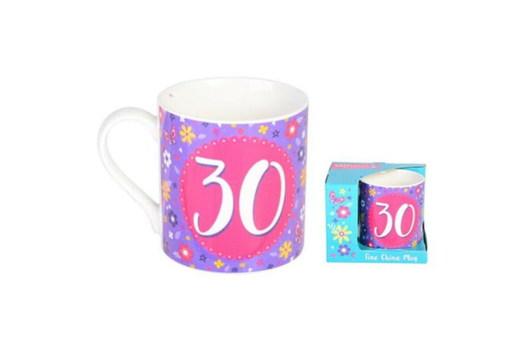 Ceramic 30th Birthday Collection Bloom Mug Gift Mugs Drinking Tea Cup Tumbler