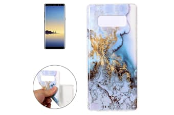 For Samsung Galaxy Note 8 Back Case Modern Marbled Durable Protective Cover Blue