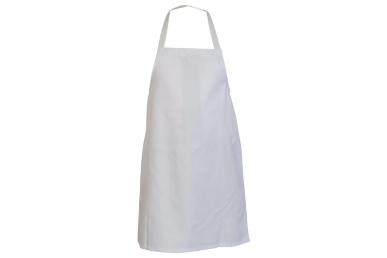 Absolute Apparel Adults Workwear Full Length Apron (White) (One Size)