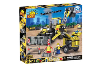 Action Town 330 Piece Construction Backhoe Loader Set